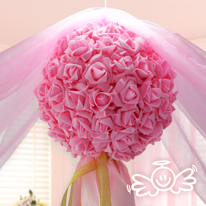 2015 New Hot Sales Wedding Decoration Flower U0026wreaths Artificial Rose  Flowes Room Hanging Flower Balls For Wedding Centerpiece In Artificial U0026  Dried Flowers ...