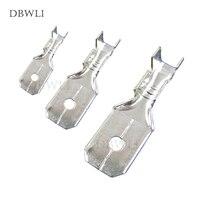 50 pces 6.3mm 4.8mm 2.8mm masculino uninsulated spade friso conector bloco de terminais|terminal block|connector terminal blockcrimp connector -