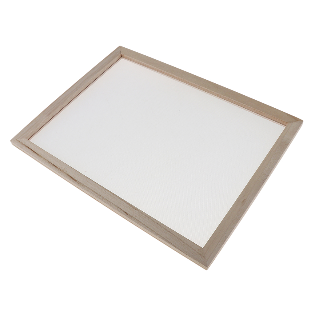 2 in 1 Wooden Paper Making Mould Frame Screen for Paper Crafts DIY 18x12.5cm