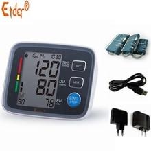 Grande manguito y cargador del brazo superior de digital bp monitores de la presión arterial tonómetro portátil cuidado de la salud metros