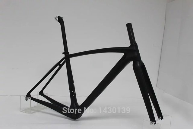 Cheap New 700C Road bike T1000 matte UD full carbon fibre bicycle frame carbon fork+seatpost+clamp+headsets lightest parts Free ship