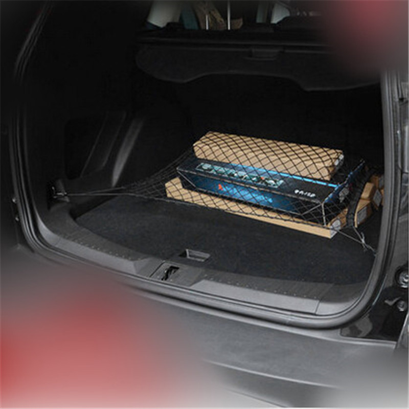 Thick Rubber Car Mats For Volvos40 S60 S80 Xc60 Xc90: Car Trunk Mesh Net Hook Mesh Elastic Luggage Car