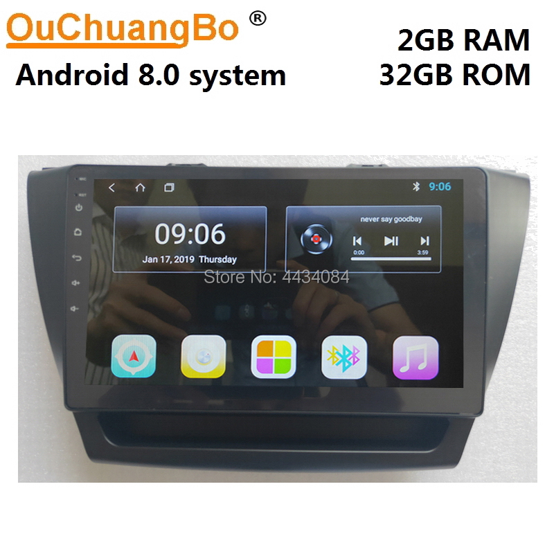 Ouchuangbo 9 inch car gps stereo head units radio for Roewe EI5 support 4 core 1080P USB 2GB 32GB android 8 1 OS in Car Multimedia Player from Automobiles Motorcycles