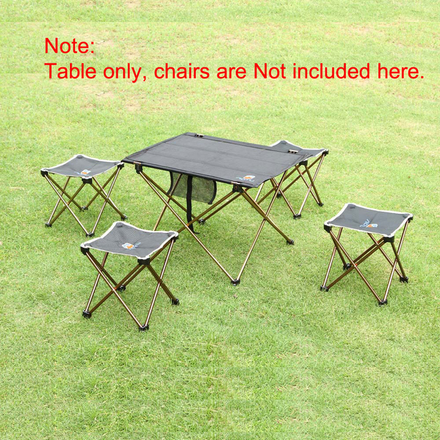 RU Outdoor Folding Table Camping 7075 Aluminium Alloy Camping Table Waterproof Ultra-light Durable Folding Table Desk For Picnic