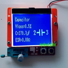 Большой 12864 ЖК-Транзистор тестер емкости ESR метр Диод Триод MOS NPN LCR