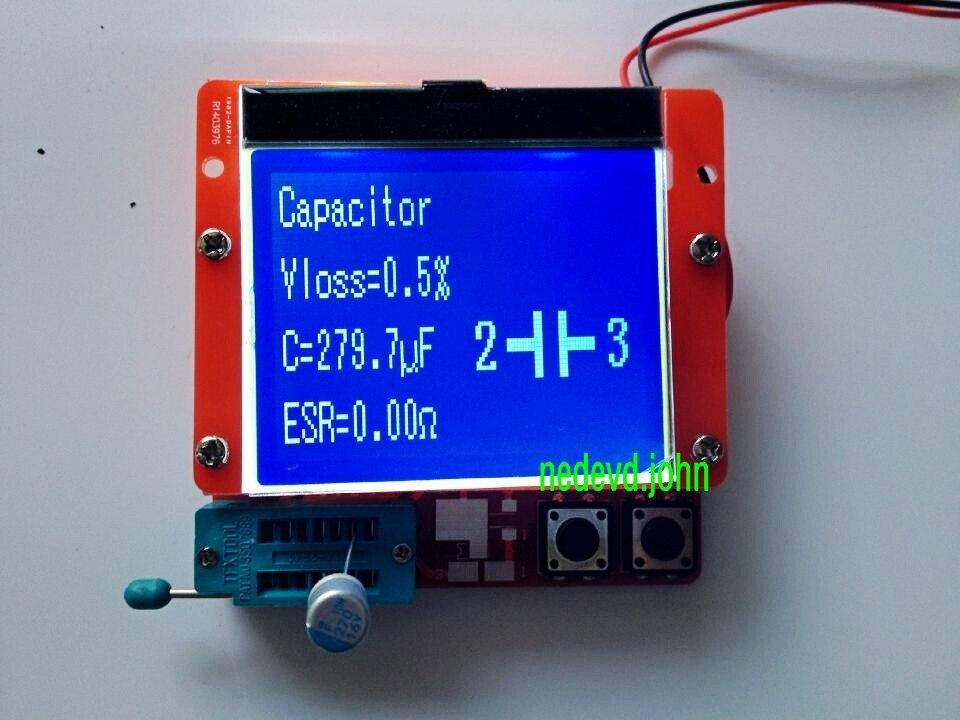 Large 12864 LCD Transistor Tester Capacitance ESR Meter Diode Triode MOS NPN LCR esr meter mk 328 tr for lcr esr digital transistor tester inductance capacitance resistance 12864 lcd screen