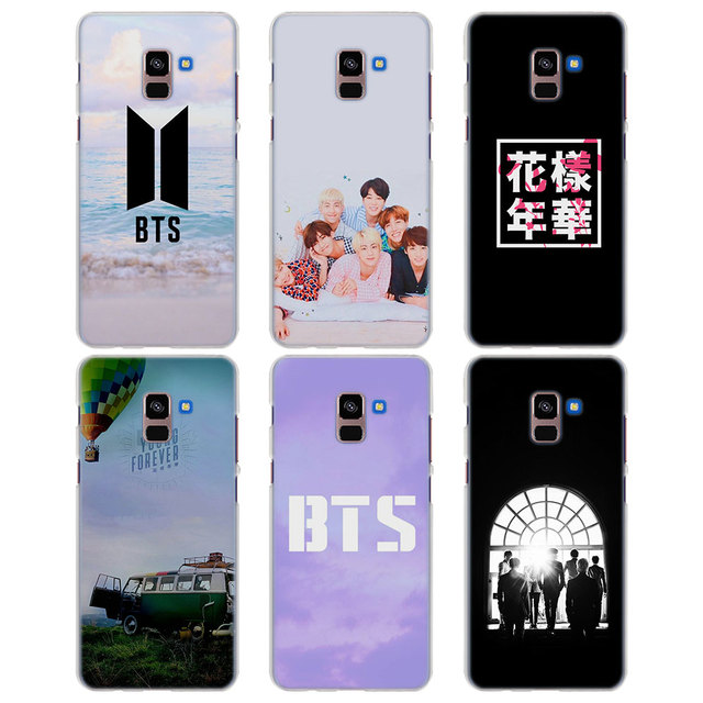 sale retailer 65d10 fcb3a US $1.97 34% OFF|for Galaxy A8+ case bts pink BTS Bangtan boys style clear  frame hard back Case cover for Samsung A6 A6+ A8 A8+ 2018 A3 A5 A7 201-in  ...