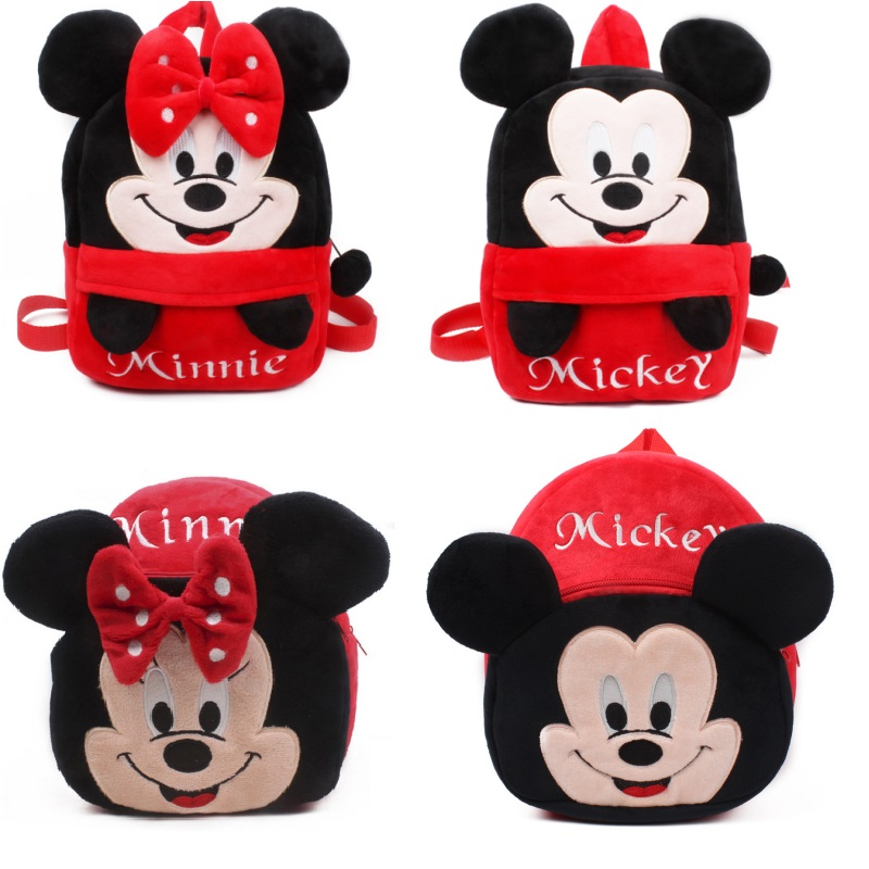 Lovely Mickey and Minnie Kid plush Backpack Children School Bag For Girl Boy Student Schoolbag baby cute mini bagsLovely Mickey and Minnie Kid plush Backpack Children School Bag For Girl Boy Student Schoolbag baby cute mini bags