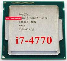 Core i7 4770 3.4 GHz 8 M SR149 Quad Core oito threads desktop processadores computador CPU soquete LGA 1150 pino