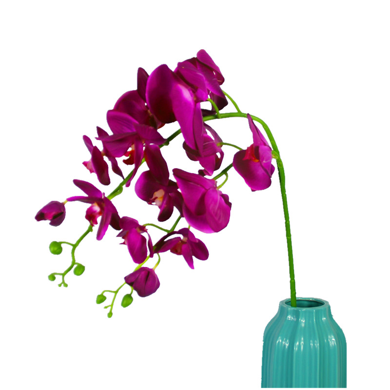930bb8b1765 Purple 2 Heads Phalaenopsis Big Orchid 110cm PU Latex Flower Real Touch  Orchid Artificial Flower Wedding Flower Free Shipping-in Artificial & Dried  ...