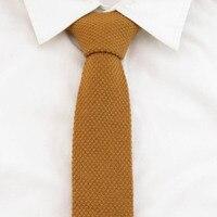 100% шерсть Neckti Для мужчин Золотой желтый галстук 5 см, трикотажные Галстуки для Для мужчин для отдыха и вечеринок Интимные аксессуары вязать ...