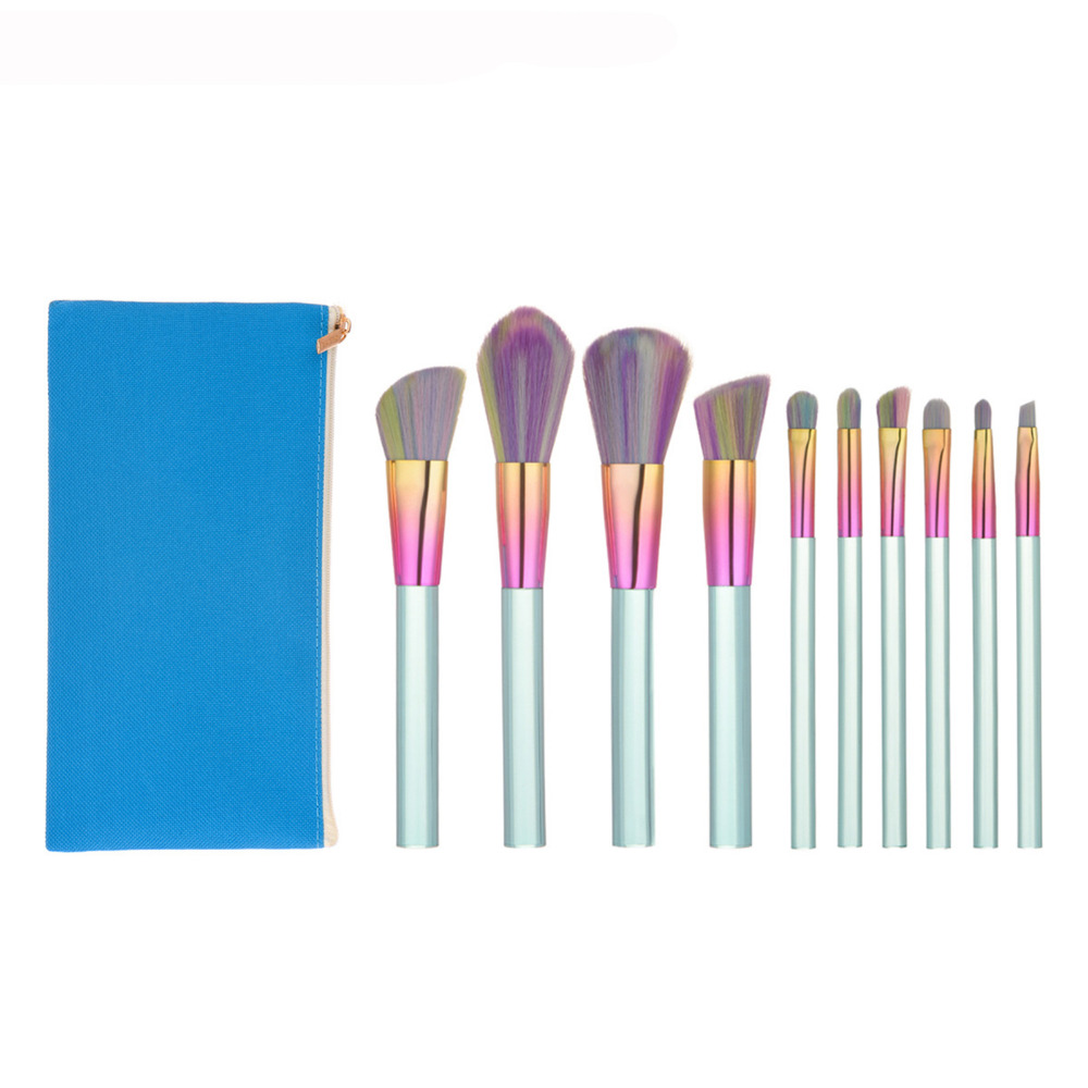 Pro Makeup Brushes Set 10PCS Foundation Blending Powder Eyeshadow Contour Concealer Blush Cosmetic Beauty Make Up Kits Hot New цена и фото