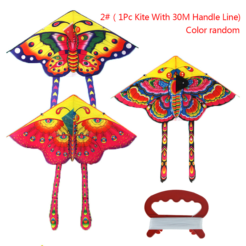 90*50CM Colorful Outdoor Sports Butterfly Flying Kite With Winder Board String Children Kids Play Game Toy