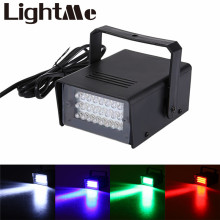 Mini AC 90 – 240V 3W 24 LEDs Stage Strobe Light  Stage Lighting Effect Led Flat for DJ Disco Party KTV For EU Plug US Plug