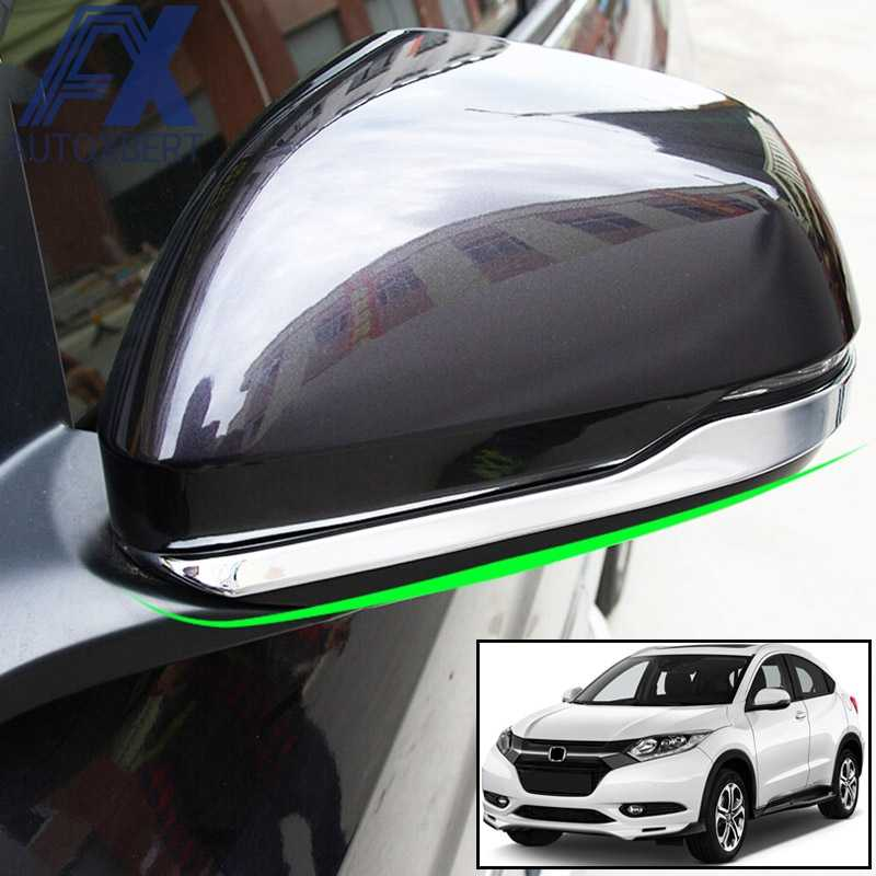 Ax Chrome Rear View Side Spiegel Strip Cover Overlay Protector Trim Molding Bezel Frame Accent Voor Honda HR-V Hrv 2018 2017 2016