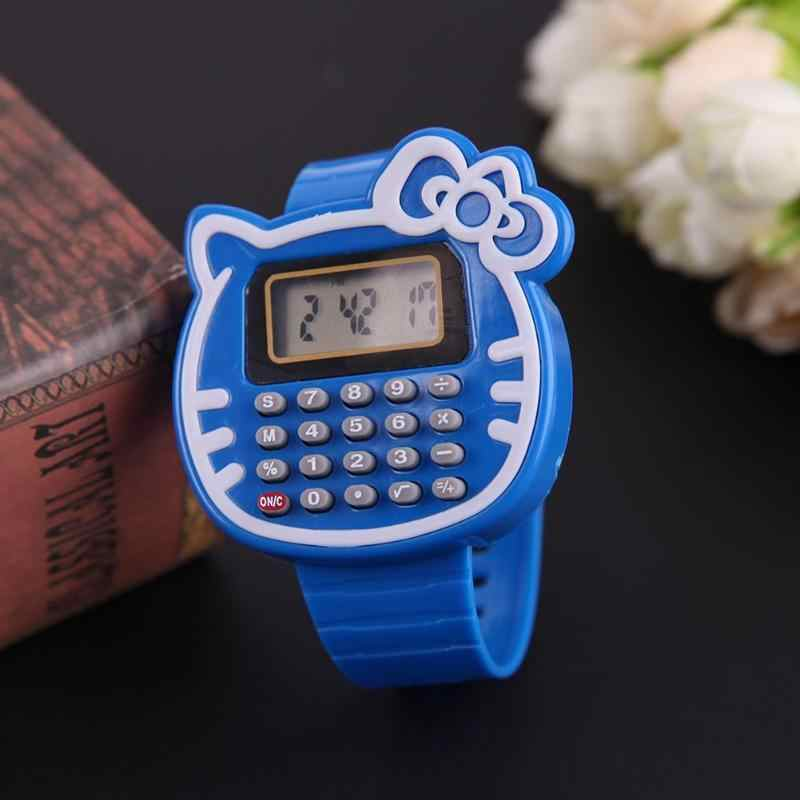 New Multifunction Learning Math Toy Date Calculator Wrist Watch Children  Toys Learning Education Present Hobbies Birthday Gift