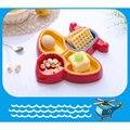 Novo Bebê Tigelas Multi Caixas Plane Forma Tigela Placa de Segurança pratos Pratos de Aprendizagem Bebê Talheres Tigelas Bpa Alimentação Infantil Conjunto bonito