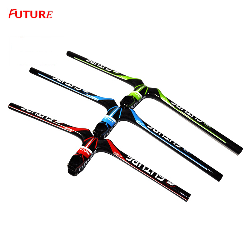 MTB bike Carbon Handlebars bike Ultra Light Carbon Fibre Mountain Bike Stem Bar 3 Colors Bicycle Integrated HandleBar Parts fouriers mtb handlebar hb mb008 mountain bicycle handlebar ud carbon fiber bike handlebars 31 8x750mm