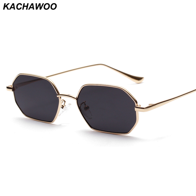 aa57ccc1291 Kachawoo rectangle sunglasses polygon women metal frame silver red glasses  sun glasses male fashion accessories 2019-in Sunglasses from Apparel  Accessories ...