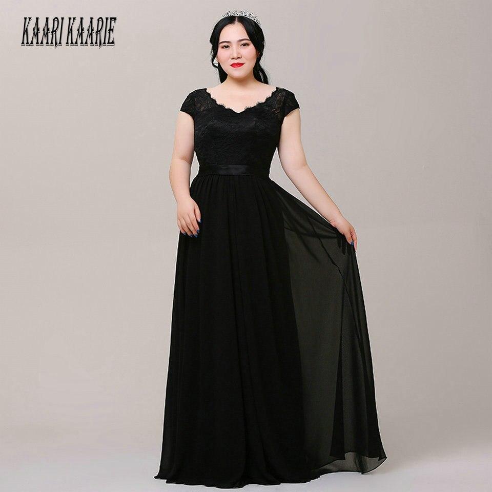 Formal Black Plus Size Evening Dresses Long 2019 Evening ...