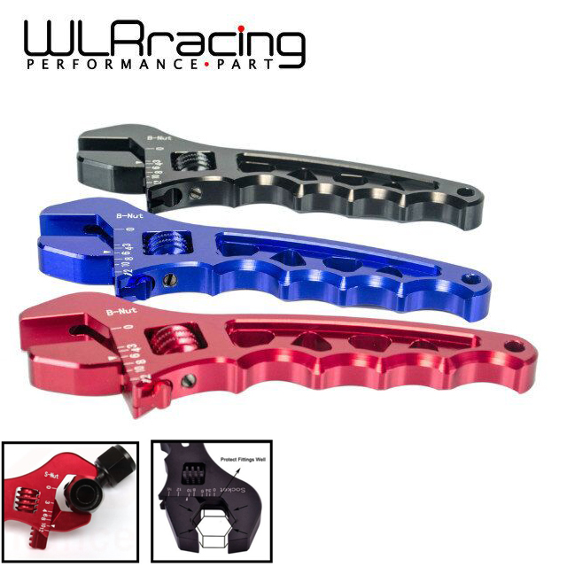 New AN3-AN12 Adjustable Aluminium Wrench Fitting Tools Spanner Black