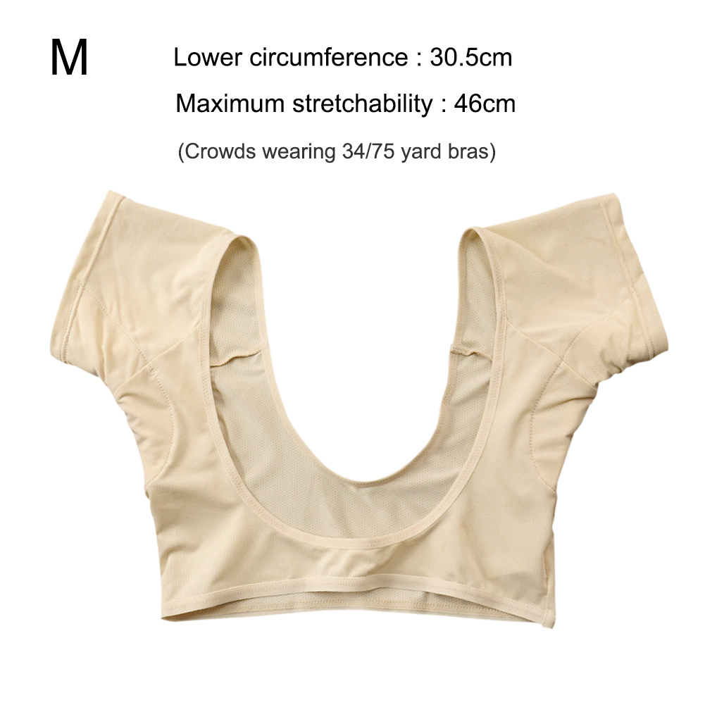 New Washable T-shirt Shape Sweat Pads Reusable Underarm Armpit Sweat Pads Perfume Absorbing Anti M/L Model