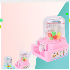 New Mini Catching Ball Machine Candy Machine Children Gift Playing Toys for Baby Kids Fun Set Toy Unisex Red Pink Blue