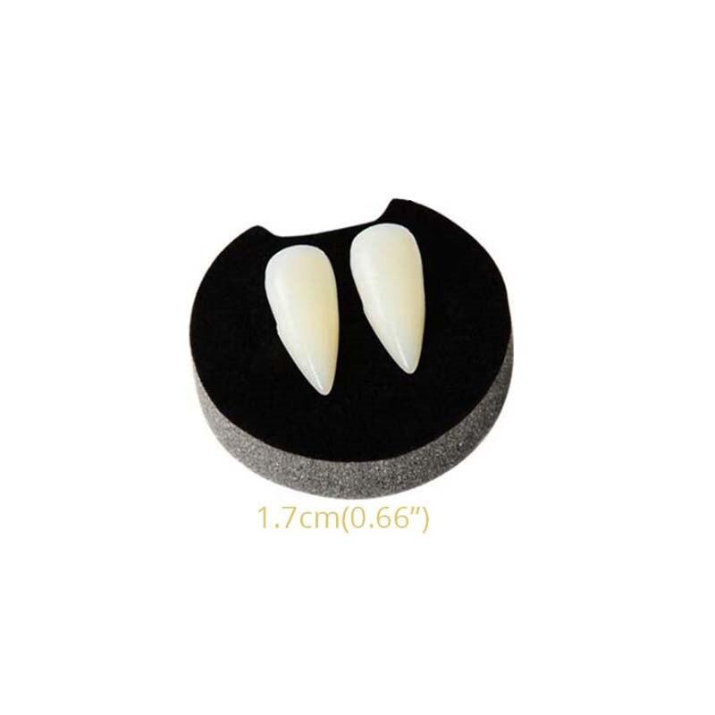 Devil Halloween Vampire Tooth Fangs Props Scary Party gum teeth spoof Dentu X6G4