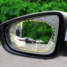 2pcs Door mirror Remove rain fog Waterproof car sticker motorcycle Rearview Day-Night anti-dazzling Film car accessories styling(China)