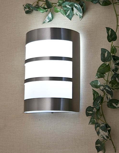 modern brief stainless steel outdoor lamp wall lamp spotlights
