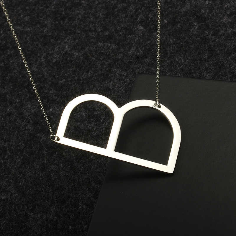 English Letter Capital stainless steel Pendant Necklace