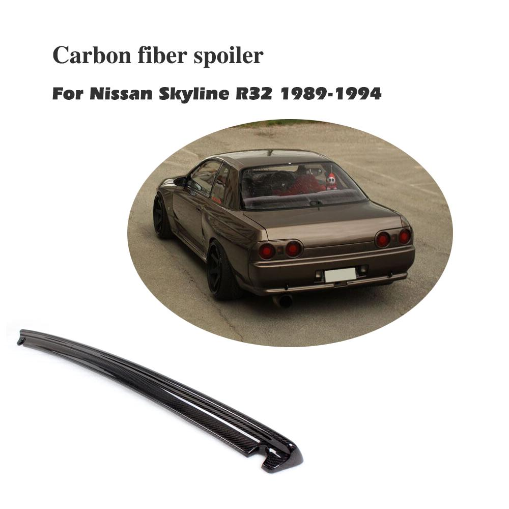 Carbon Fiber Rear Trunk Boot Lip Spoiler Wing For Nissan Skyline R32 GTR 1989-1994 Car Styling car accessories carbon fiber door sill 2pcs fit for 1989 1994 r32 gtr gts door sill without logo car styling