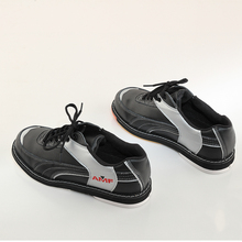 Professional bowling shoes men women special sports shoes orange and black spell color men shoes(China)