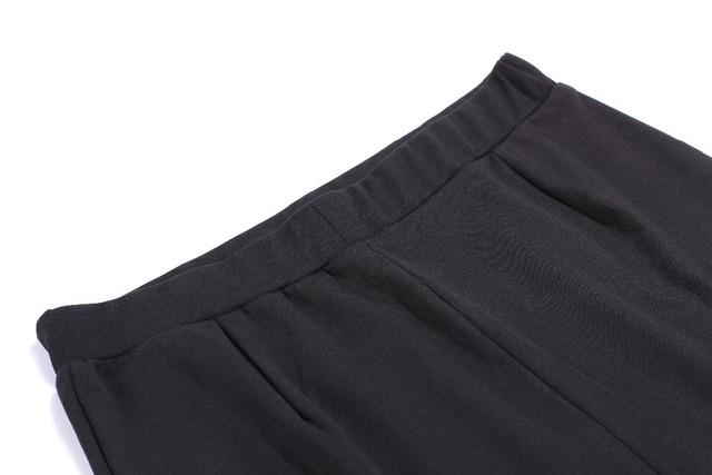 Midi Skirts Womens Asymmetrical High Waist Wrap Cotton Back Fork Elastic Band Plus Size 7XL Woman Black Office Skirt