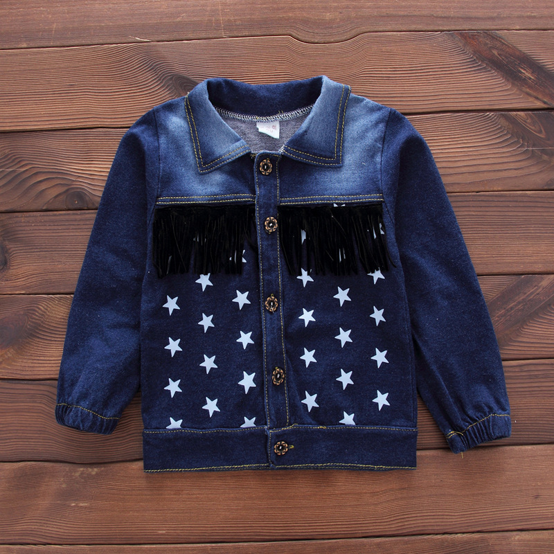 Baby Boys Clothing Set Girls Suits Denim Jeans Coat T-shirt Pants 3PCS Star Sets Toddler Kids Casual Clothes Children