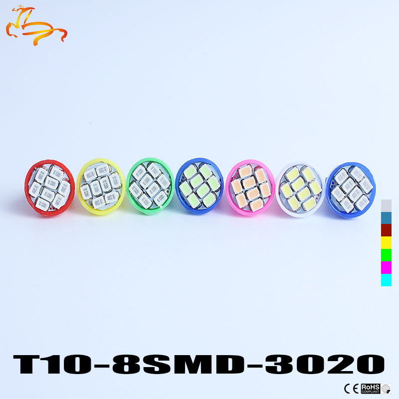 Freeshipping Wholesale 100pcs/lot t10 8led 1206/3020 smd T10 8smd 194 168 192 W5W super bright Auto led car lighting w5w led white color t10 led 8 smd 1206 8leds 8smd car interior light 194 168 192 w5w 3020 auto wedge lighting dc 12v clearance lights