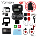 Go pro Accessories Super protection Set Small Bag Waterproof Case Sticker Protective Frame For Gopro Hero 5 Sport Camera VPX3