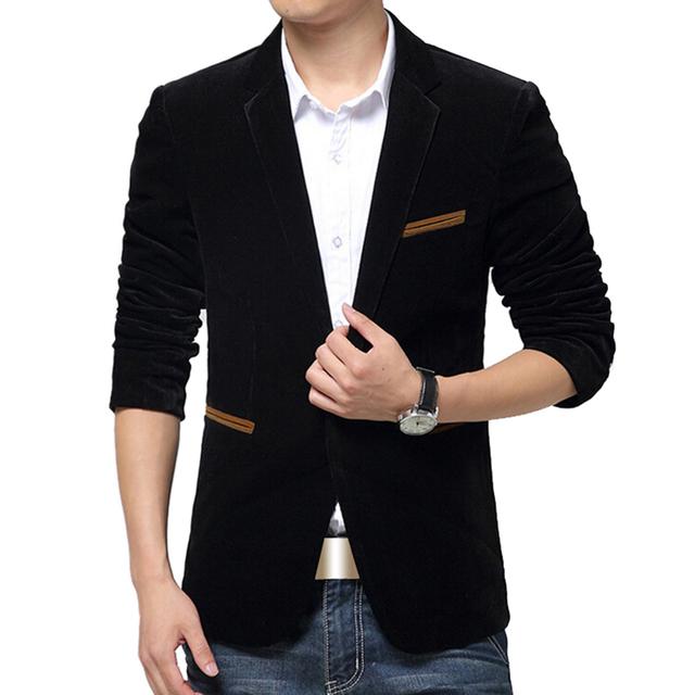 Blazer Men British Style casual blazer Slim Fit suit male Blazers Men coat Terno Masculino Plus Size 5Xl Brand clothing Jacket