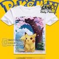 Plus Size Anime Cartoon Sakura Pikachu T shirt for Kids Children T-shirt Short Sleeve Girls t shirt Summer Cotton Tee Shirts