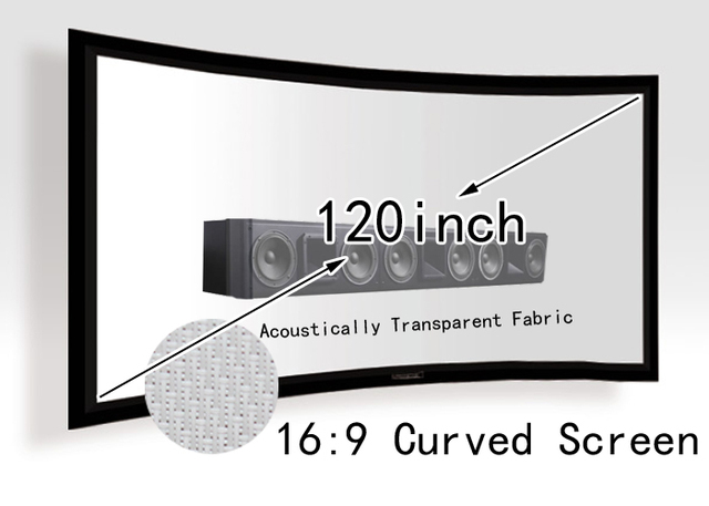 Acoustically Transparent Projection Screen 120inch Curved Fixed ...