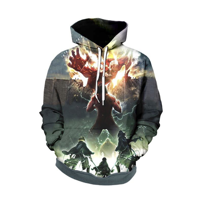Anime Hoodies Attack on Titan 3D Print Sweatshirt Men Women Hoodies Japanese Streetwear Couple Jumper Hooded Jacket Boys Clothes in Hoodies amp Sweatshirts from Men 39 s Clothing