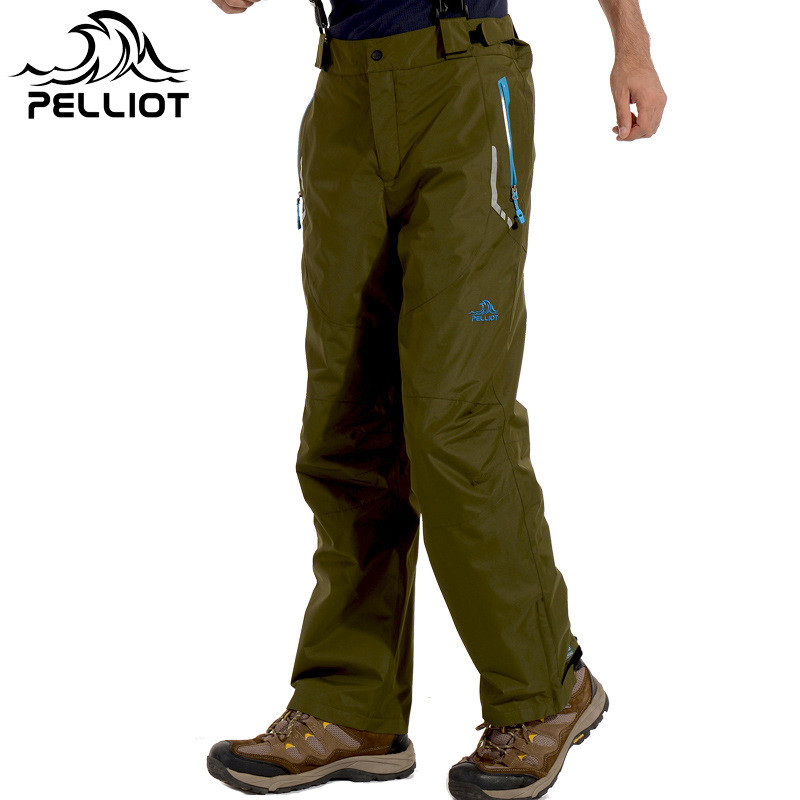 PELLIOT Brand Mens Snowboard Pants Breathable Waterproof Trousers Wear-Resistant Ski Hiking Fishing Snowboarding Pants S-XXL