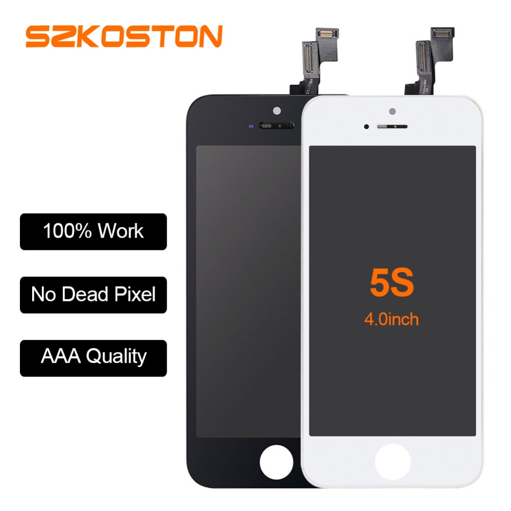 Black and White LCD for iPhone 5s Lcd Screen for iPhone 5 5c 5S LCD Display Touch Screen Digitizer Assembly Replacement sanka for iphone 5s 5c 5 lcd screen display touch screen replacement digitizer ecran pantalla lcd assembly black