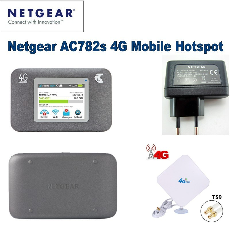 Unlocked Netgear Aircard 782S AC782S Mobile Hotspot CAT4 Wifi Router 4G LTE plus 4g mimo antenna netgear ac791l verizon wireless 4g lte mobile hotspot