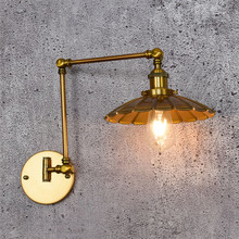 Loft Style Industrial Vintage LED Wall Light Double Long Arm Edison Wall Sconce Iron Antique Lamp Fixtures Home Lighting iwhd mirror glass iron vintage ceiling light fixtures loft edison industrial ceiling lamp hallway antique lamps home lighting
