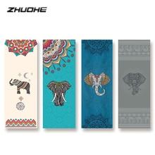 ZHUOHE Bikram Коврик для йоги полотенце нескользящее цифровое печатное одеяло для йоги Алмазная клетчатая микрофибра для йоги пилатеса фитнес путешествия