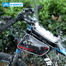 INBIKE Bike Bag Top Tube Bag Waterproof Bicycle Front Frame Pannier Bag With Touch Screen Phone Case riding equipment