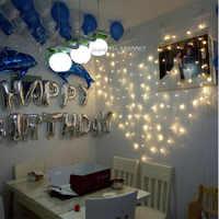 220V 2m * 1,5 m 124 luces de hadas LED cadena luces guirnalda navidad amor corazón cortina luzes casamento navidad Decoración