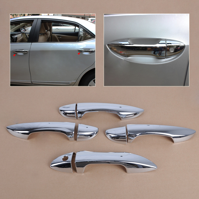 beler New High Quality Chrome Door Handle Cover Trim Outer Car Accessories Doors Handle Covers for & beler New High Quality Chrome Door Handle Cover Trim Outer Car ...