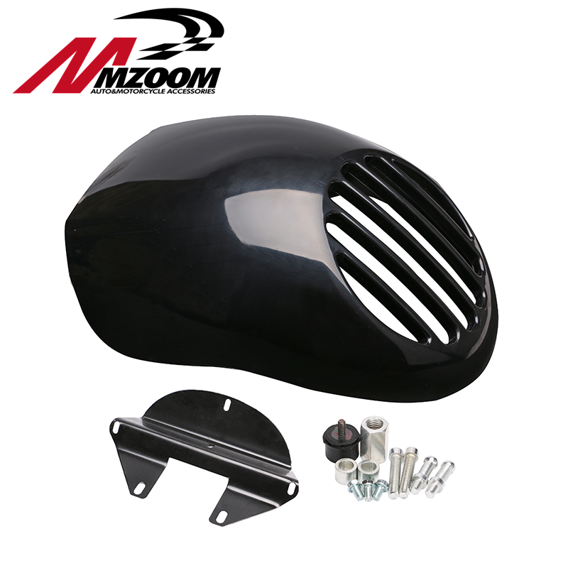 GRILLE-Style Grill Prison Cowl Cafe Headlight Mask Front Fairing Flyscreen Fly Screen Visor For Dyna Sportster XL 883